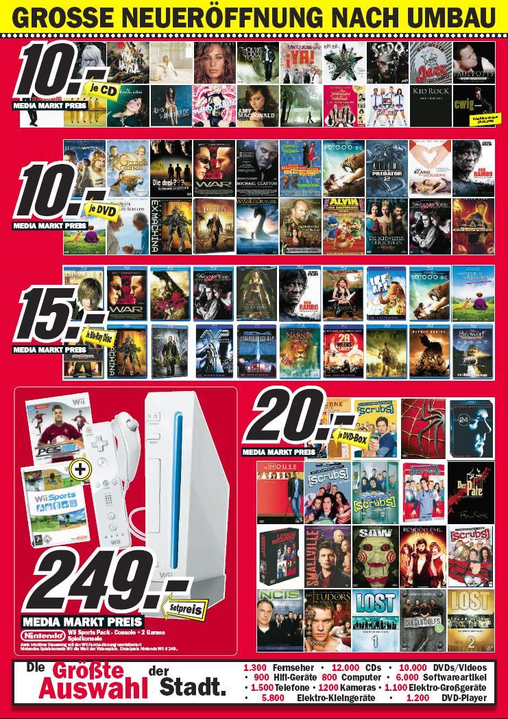 [Blu-ray] Blu-rays für 15€ im Media Markt Duisburg-Marxloh