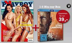 6 x Playboy oder CINEMA + Stirb langsam 1-5 (Blu-ray-/DVD-Box) ab 29 €
