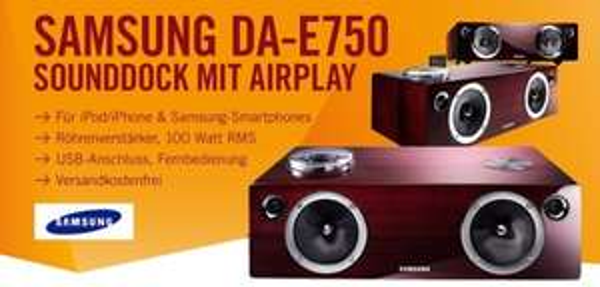 Toll: Samsung DA-E750 Sounddock (AirPlay, Röhrenverstärker) für 249 € bei Cyberport - 33% sparen