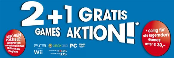 2+1 Gratis Games Aktion bei Libro - Gültig für alle lagernden Spiele unter 30 €