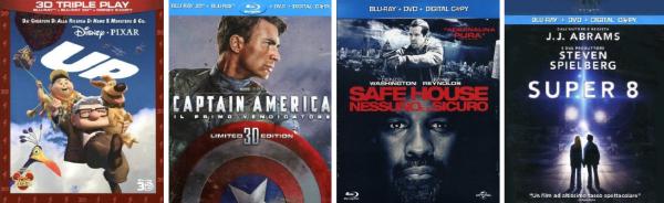 Amazon Italien: 3 für 2 Blu-ray Aktion mit vielen Angeboten wie z.B. Captain America 3D, Green Lantern 3D oder Kung Fu Panda 2 3D u.v.m.