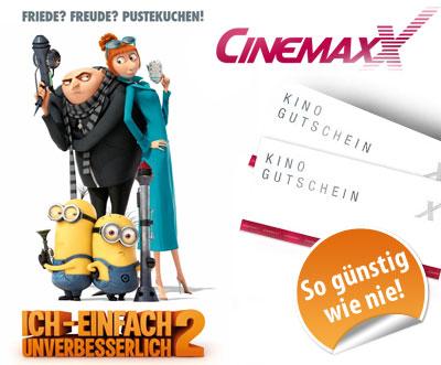 Bis zu 60% Rabatt auf verschiedene Pakete mit CinemaxX Gutscheinen von DailyDeal