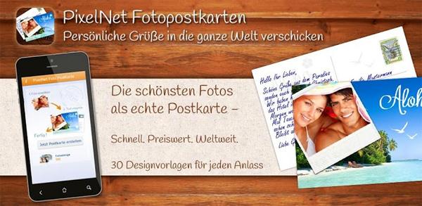 Pixelnet: 10 Foto-Postkarten selbst erstellen und weltweit gratis versenden *Update*