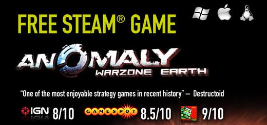 "Steam-Spiel ""Anomaly: Warzone Earth"" (Windows, Mac, Linux) gratis via Facebook"