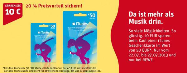 50 € iTunes-Karte ab Montag für 40 € - 20% Ersparnis *Update* Jetzt bei Media Markt AT