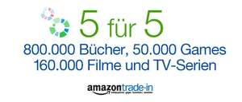 Amazon: Trade-In Gutschein im Wert von 5 € zusätzlich ab 5 € Eintauschwert
