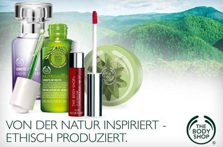 Gutschein für The Body Shop im Wert von 35 € für 17,50 € - 50% sparen