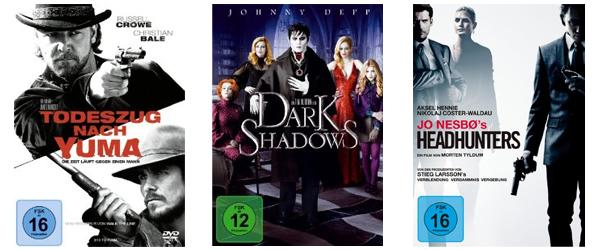 Neue Filmangebote bei Amazon - z.B. 3 Blu-rays für 24 € oder 4 DVDs für 20 €
