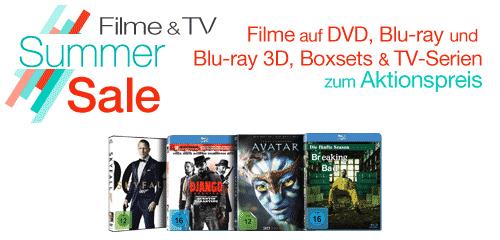 Filme & TV Summer Sale bei Amazon mit DVDs, Blu-rays und Boxsets zum Aktionspreis *Update*