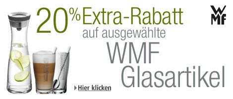 Top! 20% Extra-Rabatt auf Glasartikel von WMF bei Amazon & weitere 5 € sparen mit Gutschein