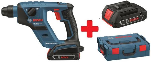 Bosch Akku-Bohrhammer GBH 18 mit 2 Akkus in der L-Boxx für 179,90 € - 39% sparen