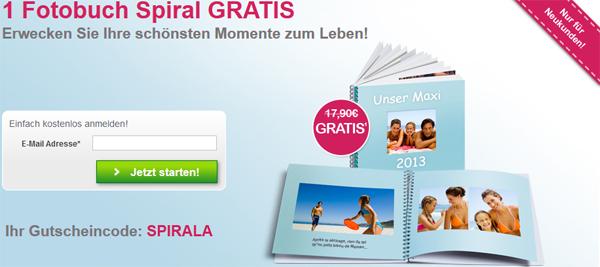 Photobox: Spiral-Fotobuch mit 30 Seiten für 0,00 € + 5,90 € Versand *Update* nochmal verlängert!