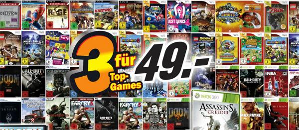 Super! 3 Spiele für 49 € bei Media Markt Deutschland *Update* jetzt auch bei Amazon!