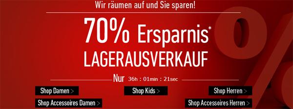 Lagerausverkauf bei Dress for Less mit bis zu 70% Rabatt & zusätzlich 10 € sparen mit Gutschein