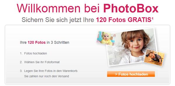 Photobox: 120 Fotoabzüge für 0,00 € + 2,99 € Versand