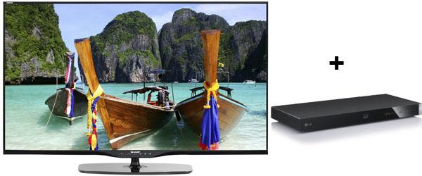 LED-Backlight-TV Sharp LC50LE652E + 3D Blu-ray-Player für 899 € - 145 € sparen *Update* Preis wurde um weitere 50 € gesenkt!