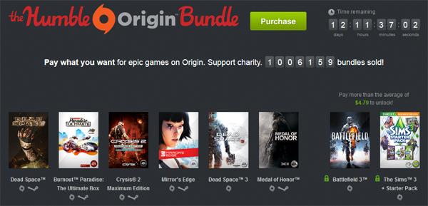 The Humble Origin Bundle - u.a. mit Dead Space 3 & Burnout Paradise ab nur 1 $! *Update*