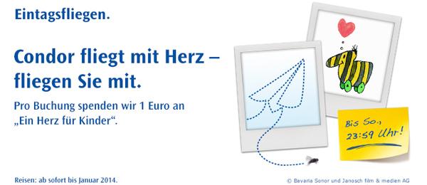 Flugschnäppchen: Condor Eintagsfliegen mit europaweiten One-Way-Flügen ab 49,99 €