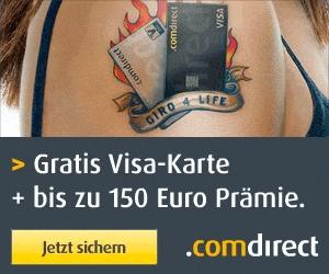Super! Dauerhaft kostenloses Girokonto der Comdirect mit 100 € Prämie und gratis Kreditkarte *Letzte Chance*