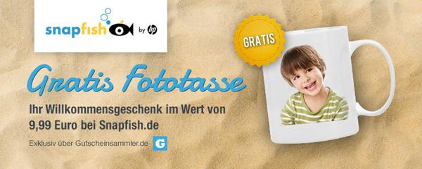 Super! Foto-Tasse bei Snapfish für 0 € + 4,95 € Versand - auch für Bestandskunden!