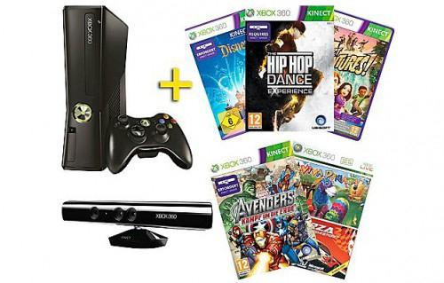 Xbox 360 (4 GB) Kinect-Bundle mit 6 Spielen für 155 € bei Saturn Österreich