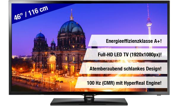 LED-Backlight-TV Samsung UE46F5000 für 459 € bei Ebay - 10% sparen