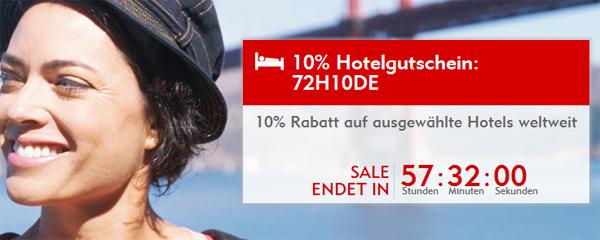 72-Stunden-Sale bei Expedia mit bis zu 47% Rabatt bei Übernachtungen & weitere 10% sparen mit Gutschein