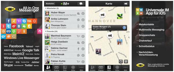 IM+ Pro für iOS - Multi-Messenger erstmals kostenlos statt 4,49 € im iTunes Store