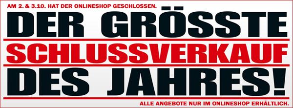 Online-Schlussverkauf bei Media Markt Deutschland mit vielen guten Angeboten *Update*