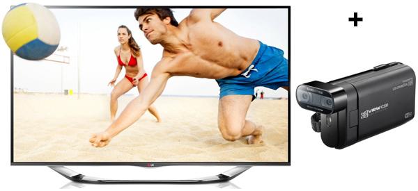 LG 55LA6918 (3D, WLAN, Triple-Tuner, Smart TV) + 3D-Camcorder für 1099 € *Update* wieder für 999 €