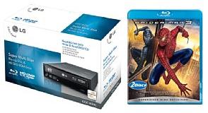 [Laufwerk] Blu-ray/HD-DVD Laufwerk + Spiderman 3 für 90€ bei Quelle
