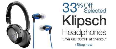 Amazon UK: 33% Gutschein für ausgewählte Kopfhörer von Klipsch - z.B. Klipsch Image S4i mit 38% Rabatt