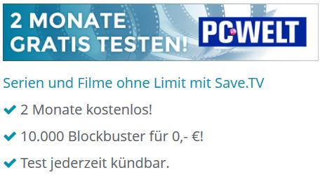 Save.tv XL: Online-Videorekorder 2 Monate kostenlos testen