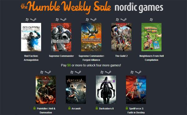 The Humble Weekly Sale mit Spielen von Nordic Games zum selbstgewählten Preis - u.a. mit Red Faction