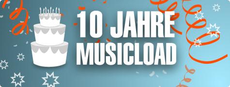 10 Jahre Musicload: 10 Tage lang 10 Lieder für je nur 0,10 € herunterladen
