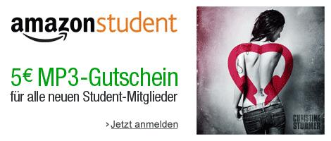Amazon Student: 5 € MP3-Gutschein für alle Neumitglieder bis Ende des Jahres