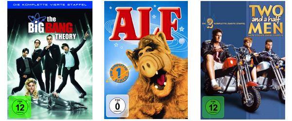 DVD- und Blu-ray-Aktionen bei Amazon: 3 Blu-rays für 22 €, 3 TV-Serien-Staffeln für 24 € oder 6 DVDs für 20 €