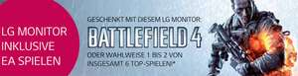 Amazon: LG-Monitor kaufen und Battlefield 4 oder bis zu 2 andere Spiele gratis erhalten