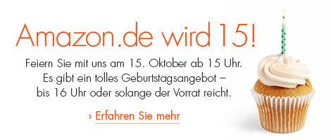 Vorabinfo: Amazon.de wird 15! Geburtstagsangebot am 15. Oktober um 15 Uhr *Update* Kindle 4 für 25 €!