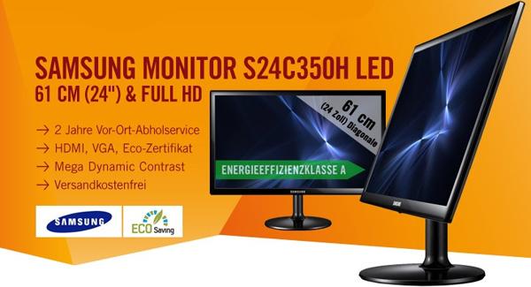 LED-Backlight-Monitor Samsung S24C350H (*Warenrückläufer*) ab 84 € - 19% sparen