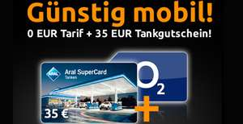 Super! Tankgutschein in Höhe von 35 € für 0,15 € durch kostenlosen Handyvertrag