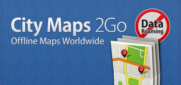 Offline-Karten-App City Maps 2Go Pro (Android) jetzt kostenlos statt 1,99 €