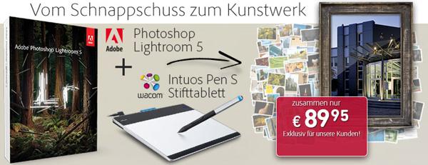 Wacom Intuos Pen Tablet S + Adobe Lightroom 5 ab 92,90 € - bis zu 41% sparen