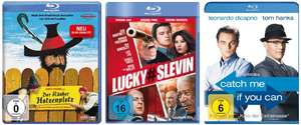 Film- und Serienangebote bei Amazon - z.B. 3 Blu-rays für 18 € oder 6 DVDs für 20 €