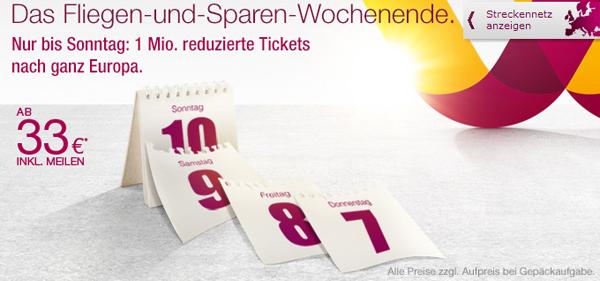 Flugangebote: europaweite One-Way-Flüge mit Germanwings ab 33 € *Update* ab 16 Uhr wieder gültig