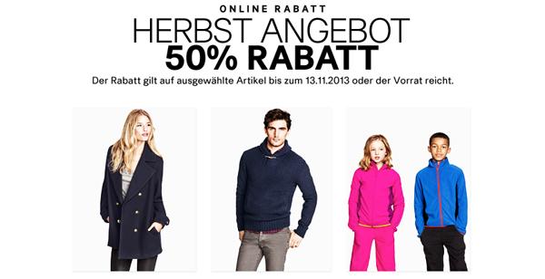 Herbstsale bei H&M mit 50% Rabatt auf einige Artikel - zusätzlich 25% und 5 € sparen mit Gutscheinen
