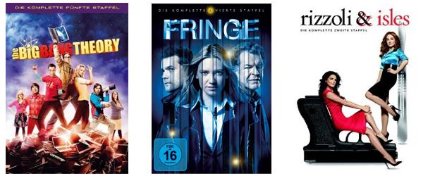 Film- und Serienangebote bei Amazon - z.B. Blu-rays für je nur 5 € oder 3 TV-Serien für 24 €
