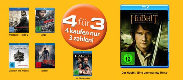 Müller & Amazon: 4 Blu-rays für zusammen 30 € kaufen *Update* ab sofort gültig