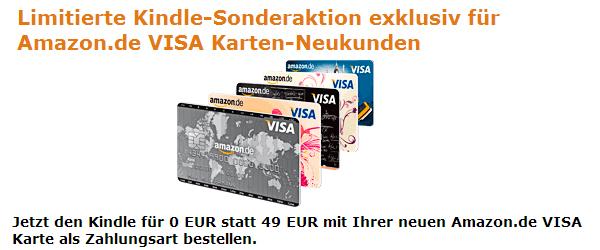 Amazon VISA-Kreditkarte beantragen und Kindle kostenlos bekommen