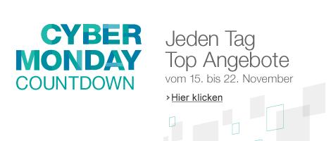 Cyber Monday Countdown bei Amazon mit täglichen Sonderangeboten bis 22. November